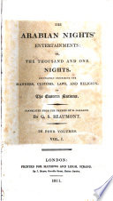 The Arabian Nights Entertainments Or The Thousand And One Nights Tr From The Fr Of M Galland By G S Beaumont