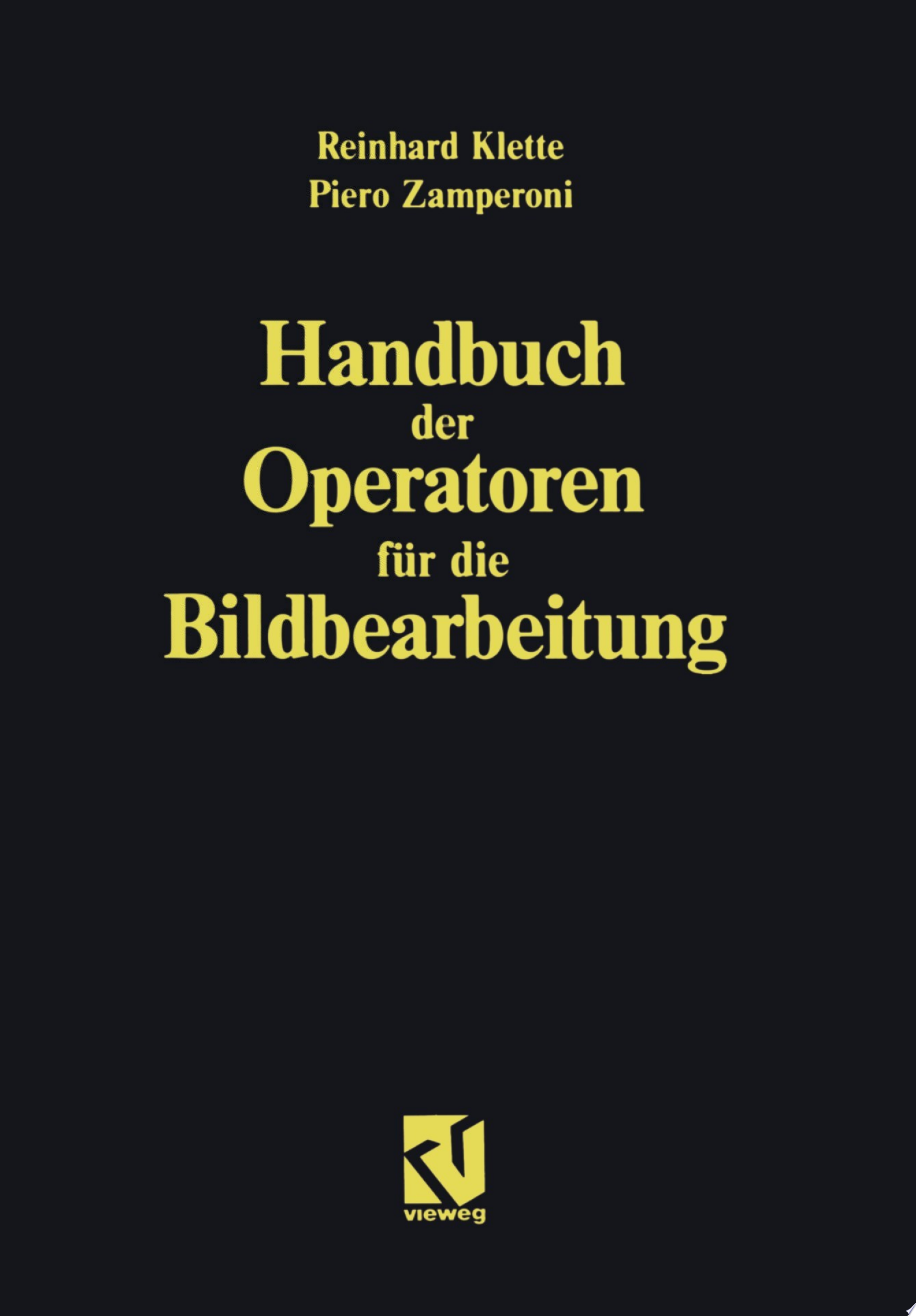 Handbuch der Operatoren f  r die Bildbearbeitung