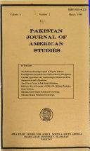 Pakistan Journal of American Studies Book
