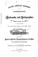 Annual Report of the Commissioner of Railroads and Telegraphs  to the Governor of the State of Ohio  for the Year