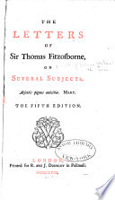 The Letters of Sir Thomas Fitzosborne, on Several Subjects