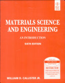 Materials Science And Engineering  An Introduction  6Th Ed  W Cd