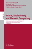 Pdf Swarm, Evolutionary, and Memetic Computing