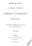 A Short History of the Norman Conquest of England Book PDF