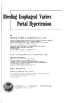 Bleeding Esophageal Varices  Portal Hypertension Book PDF