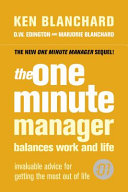 The One Minute Manager Balances Work and Life Book