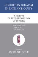 Pdf A History of the Mishnaic Law of Purities, Part 13