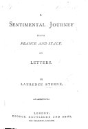 A sentimental journey     And Letters