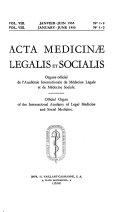 Acta medicinae legalis et socialis