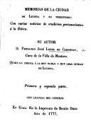Memorias de la ciudad de Lucena y su territorio, etc