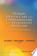 Primary Health Care And Complementary And Integrative Medicine