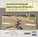 Geotechnical Earthquake Engineering and Soil Dynamics IV