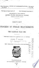 Report Of Progress Of Stream Measurements For The Calendar Year 1903