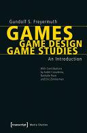 Games | Game Design | Game Studies