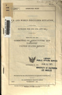 U S And World Fertilizer Situation Outlook For 1975 1976 And 1980