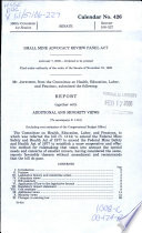 Small Mine Advocacy Review Panel Act