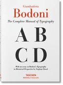 Giambattista Bodoni  Manual of Typography