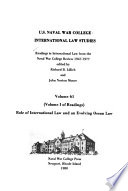 Readings in International Law from the Naval War College Review, 1947-1977
