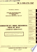 Operator's and Organizational Maintenance Manual, Including Repair Parts and Special Tools List