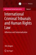 International Criminal Tribunals and Human Rights Law Pdf/ePub eBook