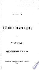 Minutes of the General Conference of Minnesota Book PDF