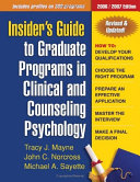 Insider S Guide To Graduate Programs In Clinical And Counseling Psychology