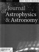 Journal of Astrophysics and Astronomy