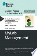 Strategic Compensation Mylab Management Combo Access Card