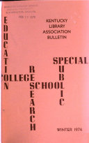 Kentucky Library Association Bulletin