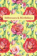 Addresses   Birthdays