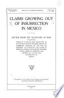 Claims Growing Out of Insurrection in Mexico