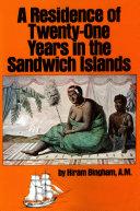 Residence of Twenty-One Years in the Sandwich Islands Pdf