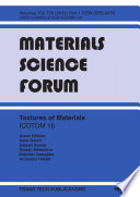 Textures Of Materials Icotom 16 Book PDF