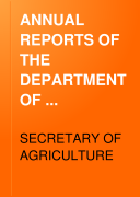 ANNUAL REPORTS OF THE DEPARTMENT OF AGRICULTURE FOR THE YEAR ENDED JUNE 30  1913