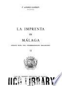 La imprenta en Málaga