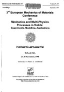 3rd European Mechanics of Materials Conference on Mechanics and Multi Physics Processes in Solids