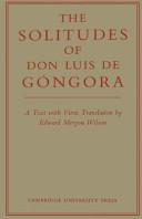 The Solitudes of Don Luis De Góngora