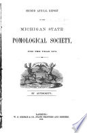 Annual Report of the Secretary of the State Pomological Society of Michigan Book