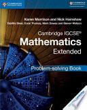 Books - New Cambridge Igcse� Mathematics Extended Problem-Solving Book | ISBN 9781316643525