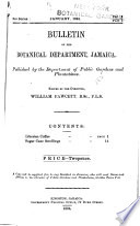 Bulletin of the Botanical Department  Jamaica