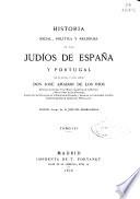 Historia social, política y religiosa de los judíos en España y Portugal