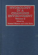 Hydrology in a Changing Environment  Theme 3  Groundwater risk  Theme 5  Catchment management and resource assessment in dry areas