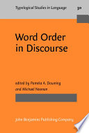 Word Order In Discourse