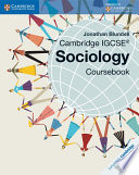 Books - Cambridge Igcse� Sociology Coursebook | ISBN 9781107645134