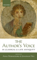 The Author s Voice in Classical and Late Antiquity