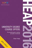 HEAP 2016  University Degree Course Offers