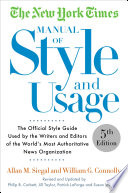 The New York Times Manual Of Style And Usage 5th Edition Book PDF