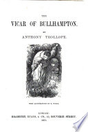 The Vicar Of Bullhampton With Illustrations By H Woods