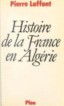 Histoire de la France en Algérie [Pdf/ePub] eBook