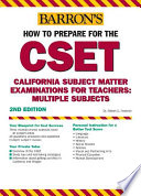 Barron's how to Prepare for the CSET Multiple Subjects